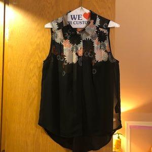 H&M semi-sheer sleeveless top size 6